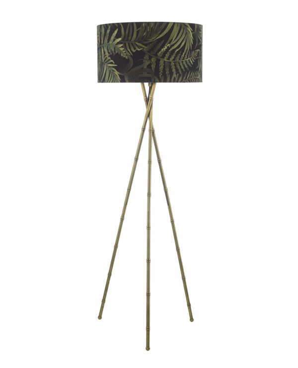 Gold bamboo tripod floor stand